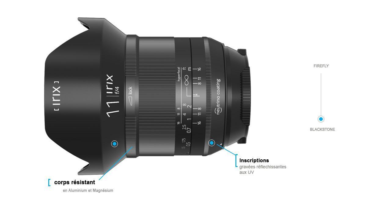Irix 11mm f/4.0 Blackstone Objectif Grand angle Pentax