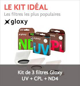 Kit de Filtres Gloxy CPL, UV, ND4