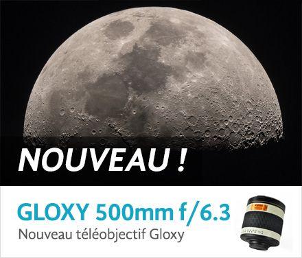 Téléobjectifs Gloxy 500mm