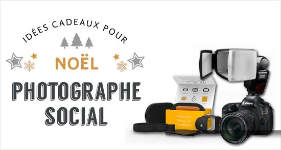 Cadeaux pour photographe social