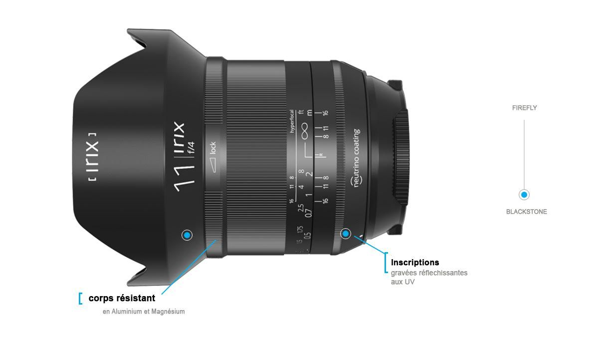 Irix 15mm f/2.4 Blackstone Objectif grand angle