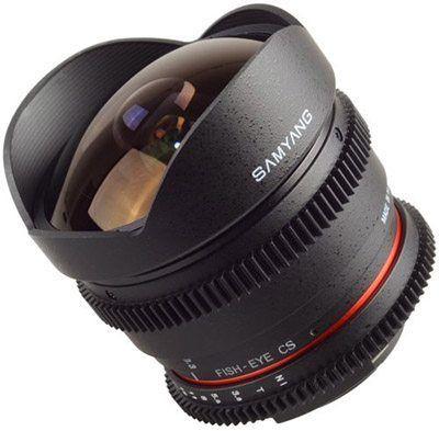 Objectif Samyang 8mm T3.8 V-DSLR UMC CSII Canon