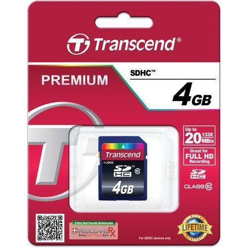 Mémoire Transcend SDHC 4GB pour Sony DSC-HX100V