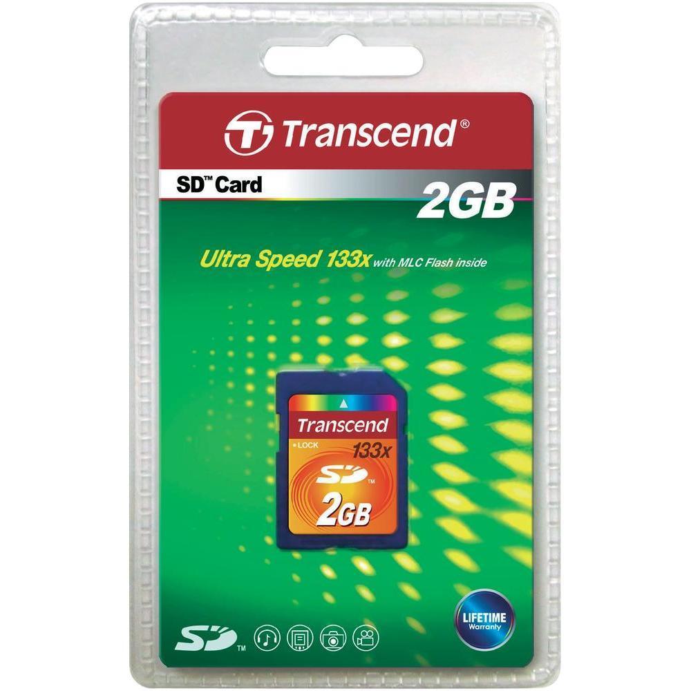 Transcend Carte Mémoire SD 2GB pour Sony DSC-HX100V