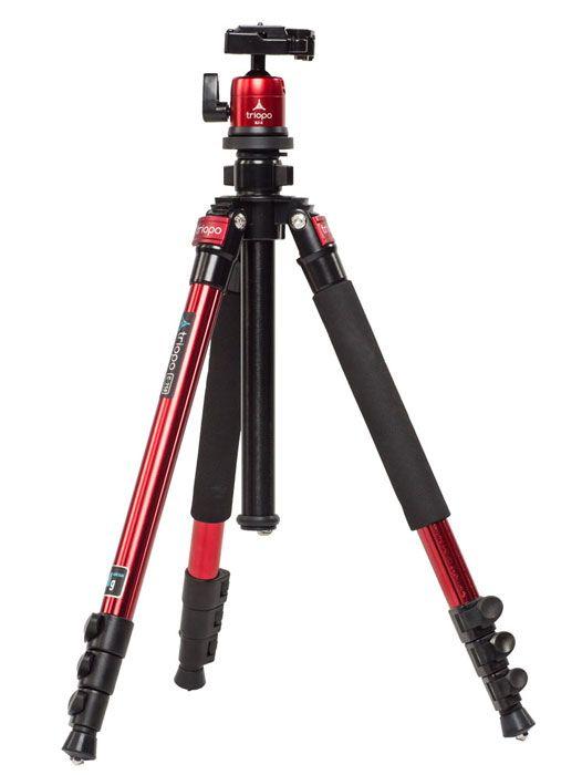 Kit trépied Triopo C-258 + rotule KJ-2 rouge pour Sony DSC-HX100V