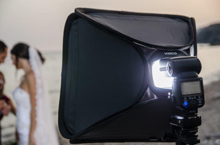 Kit Flash Gloxy GX-F990 avec Softbox Grid et Support