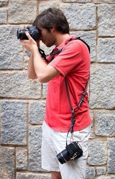 Bymerro harnais complet pour deux appareils photo noir - Appareil a raclette pour deux ...