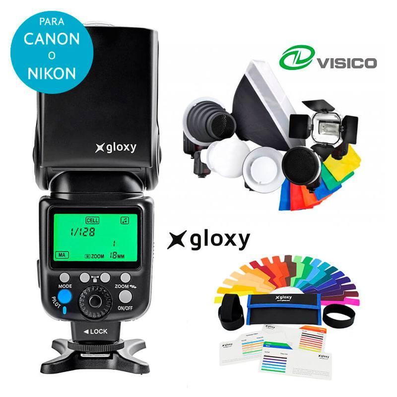 Kit Flash Gloxy GX-F990 + 7 Accessoires Strobist