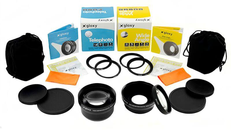 Gloxy Mégakit Grand Angle, Macro et Téléobjectif L pour Sony DSC-HX100V