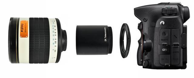 Gloxy Téléobjectif 500-1000mm f/6.3 Mirror + Multiplicateur 2x